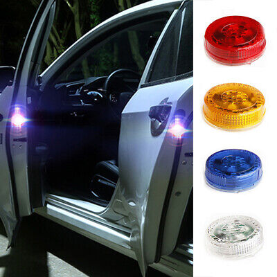 2x LED Car Door Opening Warning Light Safety Flash Signal Lamp Anti-Collision UK • 2.95£