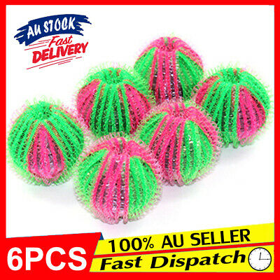 AU10.88 • Buy 6Pcs Washing Machine Hair Grabbing EA Wash Ball Fluff Cleaning Lint Laundry For