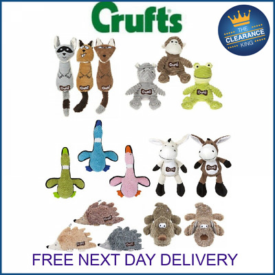 Crufts Pet Puppy Dog Corduroy Squeaky Training Play Toys  • 5.99£