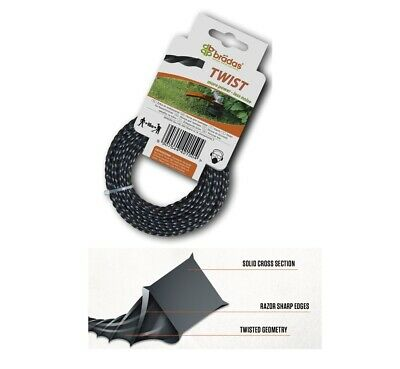 HEAVY DUTY TWIST STRIMMER LINE 2.7mm X 15M FOR PETROL STRIMMERS WIRE CORD • 5.48£