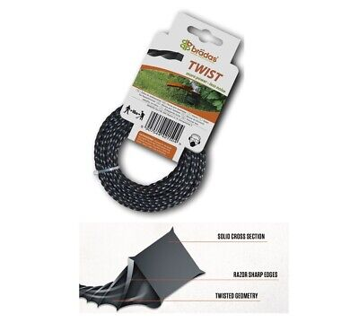 SET OF 2 HEAVY DUTY TWIST STRIMMER LINE 2.4mm X 15M  FOR PETROL STRIMMERS WIRE • 6.99£