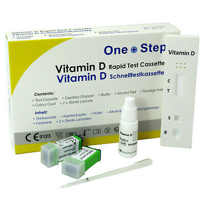 Vitamin D Test Kit, Level Insufficiency Deficiency Rickets Blood Testing Kits • 7.39£