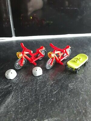 2 Lego Bicycles With Lights And Helmets & Lego Skateboard - Perfect Condition  • 0.99£