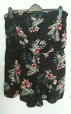 Lovely New Look Black Floral Bandeau Style Playsuit Size 18 !! • 5£