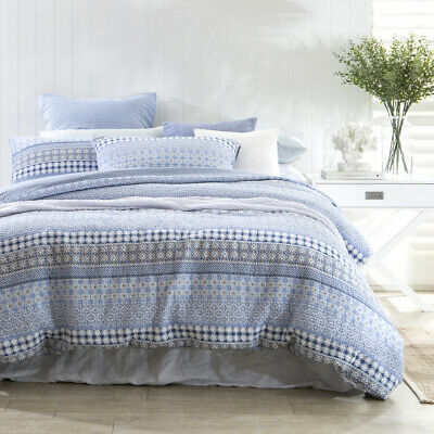 AU89 • Buy New Habitat Southport Blue Quilted Quilt Cover Set