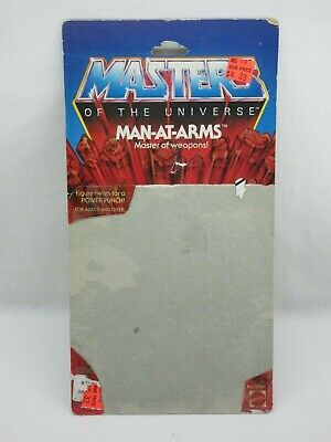 $40 • Buy MOTU,Vintage,MAN-AT-ARMS CARD BACK,8 BACK,Masters Of The Universe,He Man