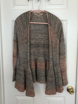 $ CDN9.28 • Buy Women's Anthropologie Knitted And Knotted Cardigan Sweater Size XS