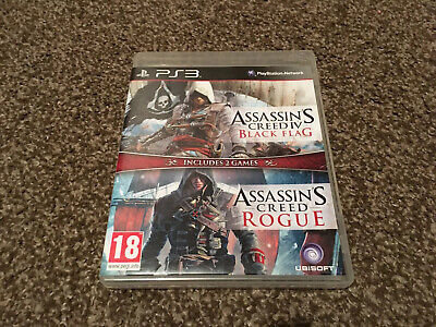 Assassins Creed Black Flag Rogue Double Pack Ps3 Playstation • 7.99£
