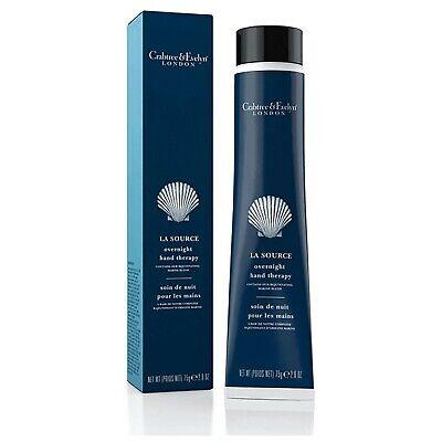 NEW BOXED Crabtree & Evelyn La Source Overnight Hand Therapy Hand Cream 75g • 14£