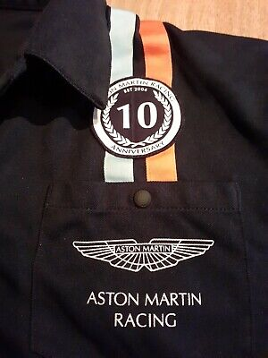 Aston Martin Racing 10th Anniversary Shirt 2014 Size Mens Medium Hackett's Gulf • 39.99£