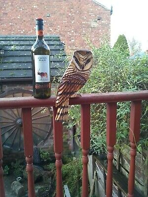 Chainsaw Wood Carving Of A Barn Owl To Sit On A Fence Garden Ornent • 20£
