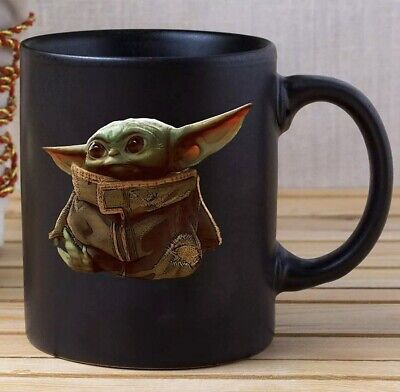 $16.75 • Buy Baby Yoda Mug Star Wars, Black Mug 11 Oz, Coffee/Tea Mug