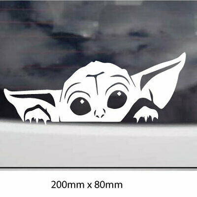 AU5.90 • Buy PEEPING YODA Car Sticker Decal Drift JDM Car Window CUTE  PEEKING YODA , Laptop