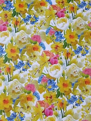 £2.50 • Buy 2 Sheets Thick Glossy Easter Floral Wrapping Paper