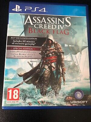 Assassins Creed Black Flag Special Edition & Exclusive Edition  Ps4 FREE UK P&P  • 11£