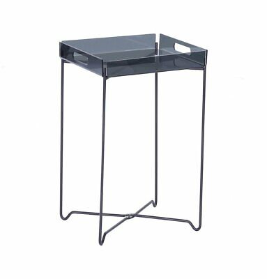 $100.06 • Buy Campbell Side Table, Black Acrylic, Plastic & Metal, Modern Contemporary End Tab