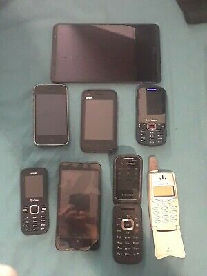 $ CDN93.38 • Buy Lot Of 7 Phone 1 Ipod .1st Iphone ,verizon,samsung,lanix,ZTH,AND MORE
