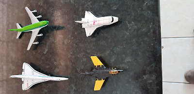 4 Small Matchbox Diecast Planes Concord, S2 Jet, Boeing 747 & Space Shuttle  • 8£