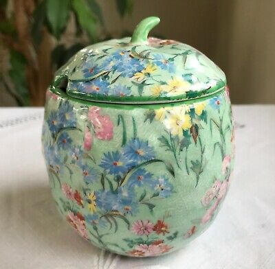 Shelley Melody Chintz Jam Preserve Pot • 10£