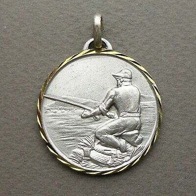 £17.74 • Buy French Vintage Pendant Fishing Angling Fob Medal