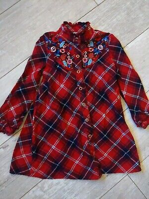 Marks And Spencers Girls Checked Dress Age 5-6 • 1.50£