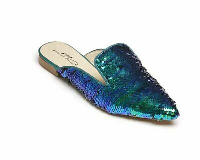 $17.50 • Buy Midnight Velvet Sequin Mule Blue NEW NIB Size 6M Flats Shoes