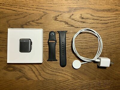 $ CDN277.06 • Buy New AppleWatch Series 3 (GPS) 42mm SpaceGray Aluminum Case W/Black Band/Charger