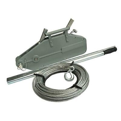 £175 • Buy Neilsen 1600kg Turfer Puller Winch 20 Meter 0f 11mm Wire Rope Cable CT5297