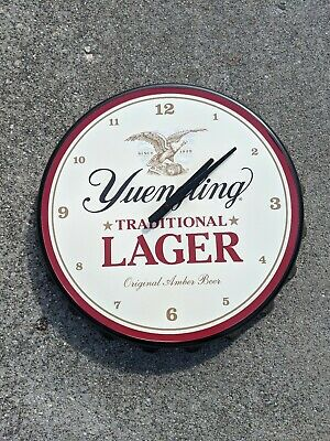 "$82.88 • Buy Yuengling Lager Beer Large Bottle Cap Clock 18"" Man Cave Bar NEW"
