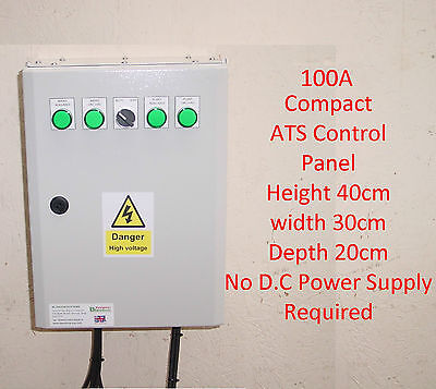 £685 • Buy 100A ATS Automatic Transfer Switch Compact Single Phase 100 Amp+Gen 2 Wire Start