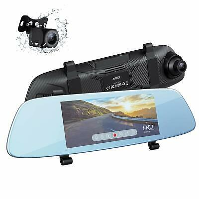 AU160.13 • Buy AUKEY Mirror Dash Cam Dual 6.8 Inches LCD Touchscreen Car Camera 1080p Front ...
