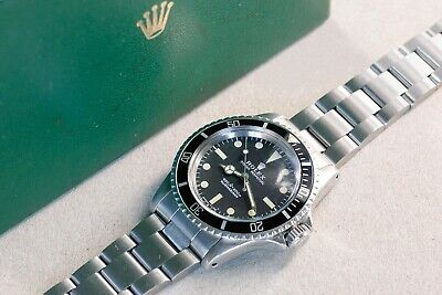 $ CDN25533.83 • Buy ROLEX 5513 Submariner Feet First Matte Dial Cream Patina With Box 1970s Vintage