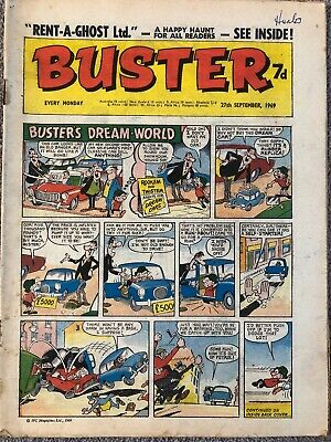 BUSTER Comic - 27th September 1969 - FLEETWAY BRITISH WEEKLY. • 1.99£