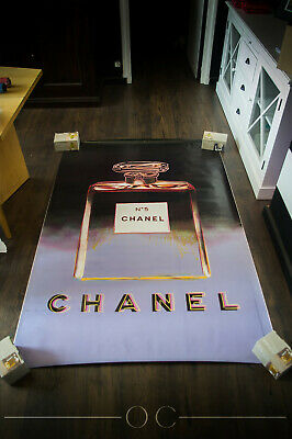 $2689 • Buy CHANEL 5 BY WARHOL Style A 4x6 Ft Original Vintage Advertising Poster