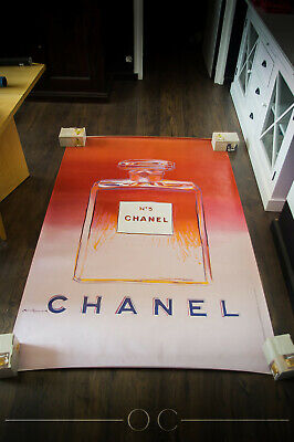 $2689 • Buy CHANEL 5 BY WARHOL Style B 4x6 Ft Original Vintage Advertising Poster