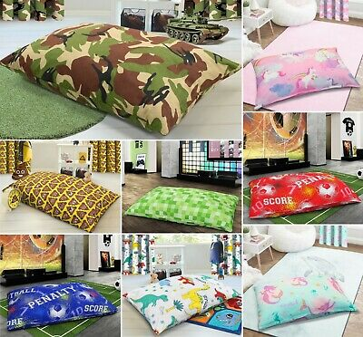 £15.95 • Buy Large Printed Childrens Multi Purpose Floor Cushion Fibre Filled Removable Cover