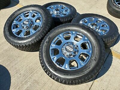 $2199 • Buy 20  Ford F-250 F-350 2020 Chrome Wheels Rims A/T Tires 2016 2017 2018 2019 NEW