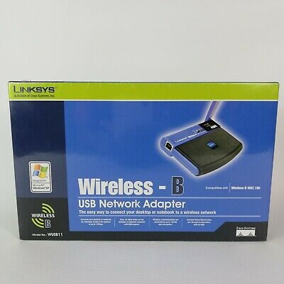 $18.99 • Buy Linksys Wireless USB Network Adapter 2.4 GHz 802.11b Model WUSB11 Ver 2.8 New