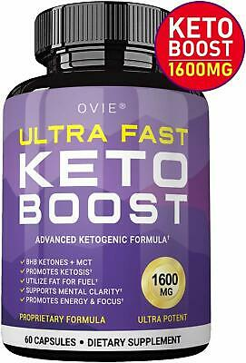 $17.99 • Buy Ultra Fast Keto Boost 1600mg - Advanced Weight Loss Caps Ketosis Keto Diet Pills