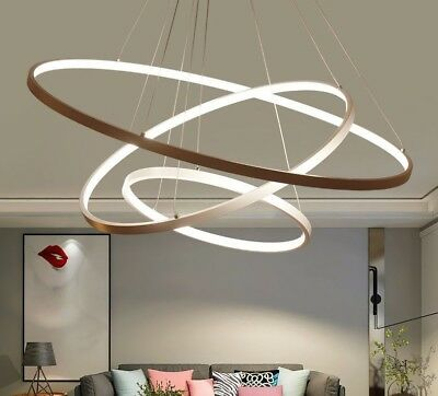 £92.58 • Buy Pendant Lights For Living Room Circle Rings Acrylic Aluminum LED Lamp Fixtures