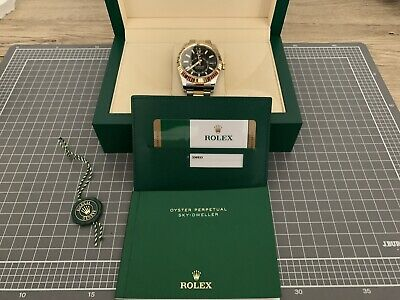 AU24000 • Buy Rolex Sky-Dweller 42mm Oyster-Steel Yellow Gold Black Dial Oyster Watch 326933