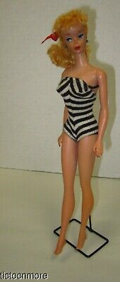 $ CDN34.40 • Buy Vintage Barbie Ponytail Doll Blonde Tm Body Soft Bangs 850 W/ Zebra Suit & Stand