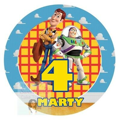 Toy Story Woody And Buzz Cake Topper Personalised Edible Icing Cake Decoration • 5.99£