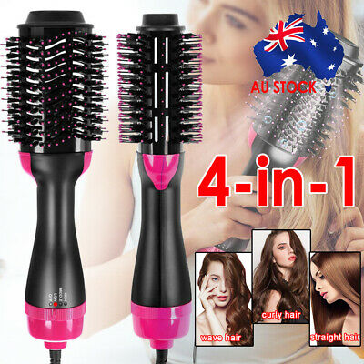 AU30.99 • Buy 4in1 Hot Air Style Curler Hair Dryer Styling Roll Hair Brush Comb Hairdryer Comb