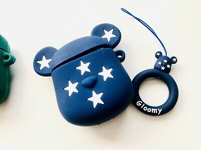 $9.50 • Buy Kawaii Bearbrick Star Bear Character Airpods Case Silicone Case Only Cute Anime