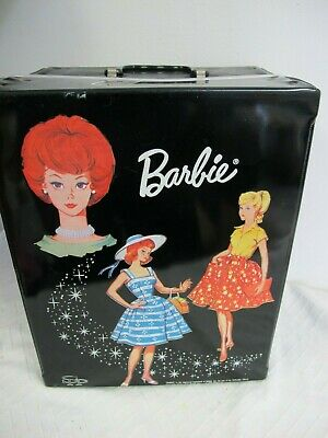 $ CDN33.87 • Buy Vintage Barbie Doll Trunk  Black  Case 1964 Spp With Red Strap  Large