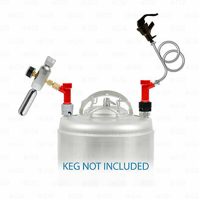 Pin Lock Corny Keg Portable Dispensing Kit Mini Co2 Regulator + Picnic Faucet • 36.65£
