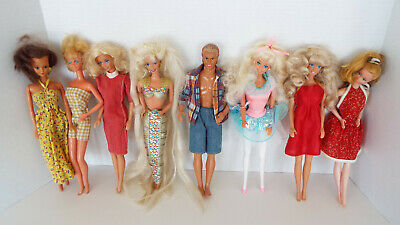 $ CDN13.22 • Buy Vintage Barbie Ken Friends Fashion Dolls Clothes Sold As Found Estate Lot W