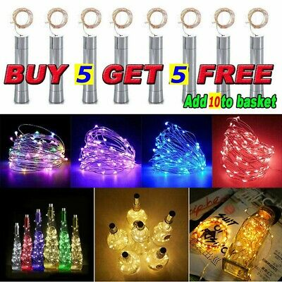 (Buy 5 Get 5 Free)Wine Bottle LED String Lights Battery Operated Home Decoration • 1.89£