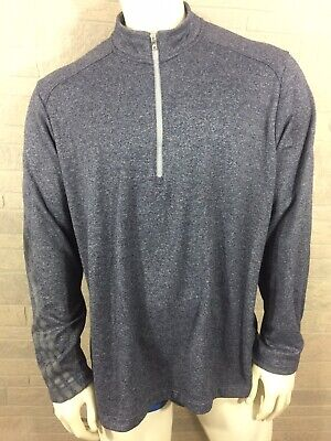 $17.99 • Buy Adidas Golf Men's Size XL Pullover Long Sleeve Zip Blue/Gray RN88387